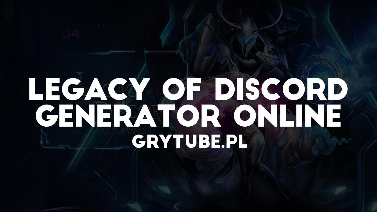 legacy of discord kody na diamenty